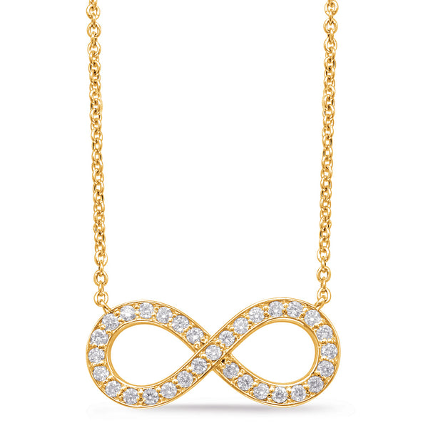14K Yellow Gold Diamond Necklace. #1090-N1202YG
