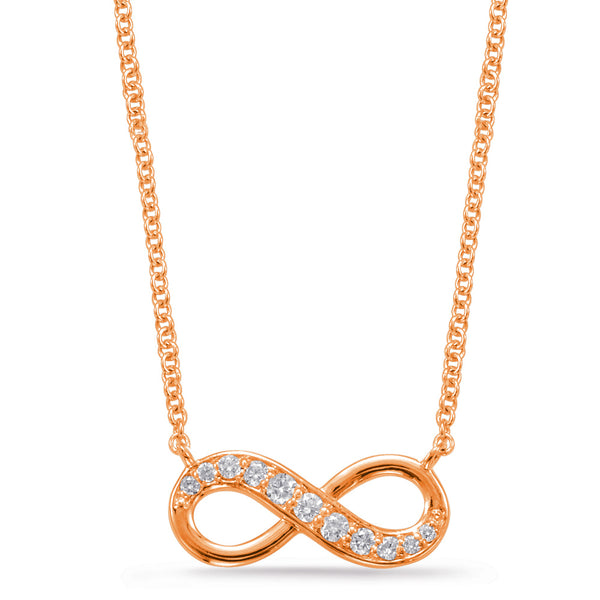 14K Rose Gold Diamond Necklace. #1090-N1202RG