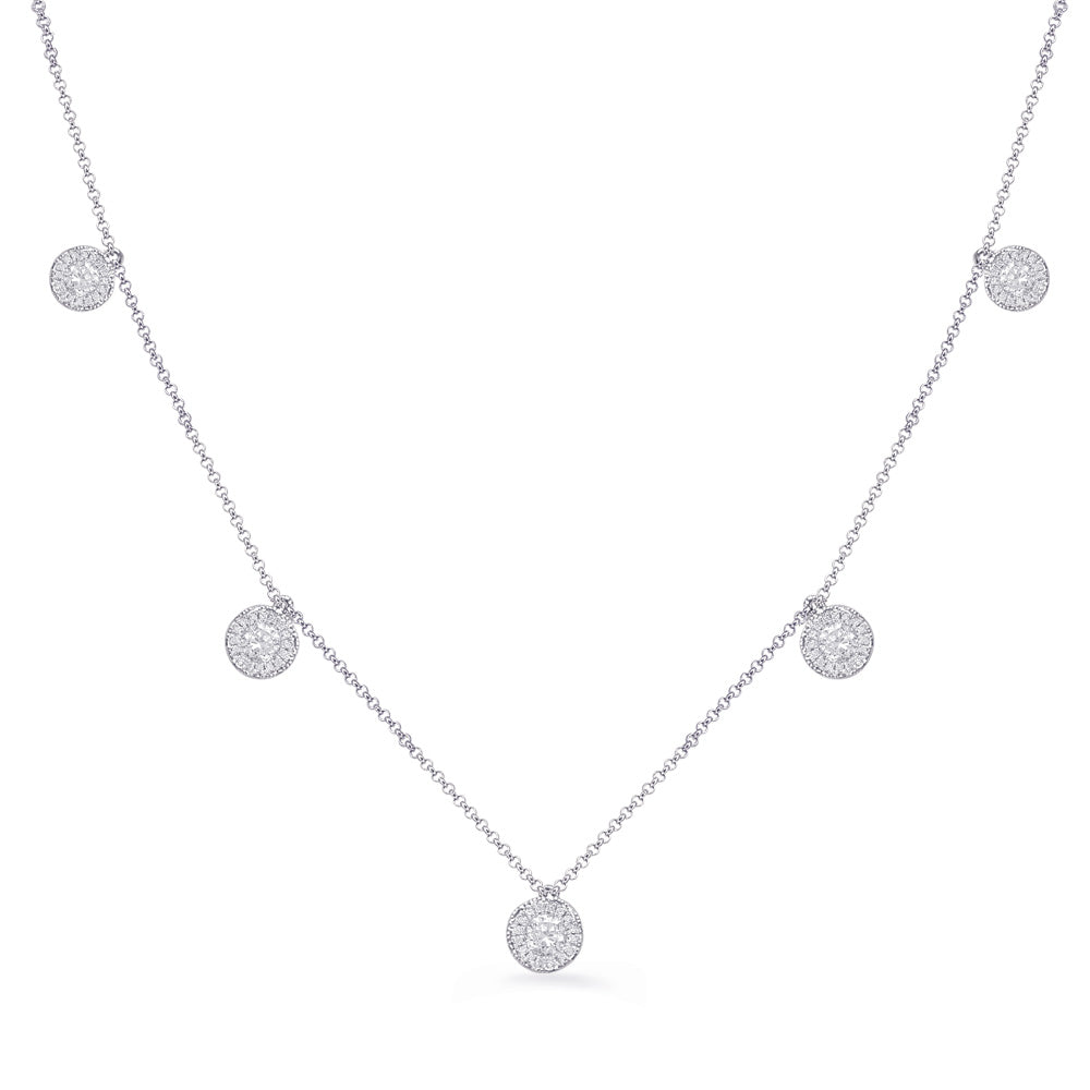 14K White Gold Diamond Necklace. #1090-N1215WG