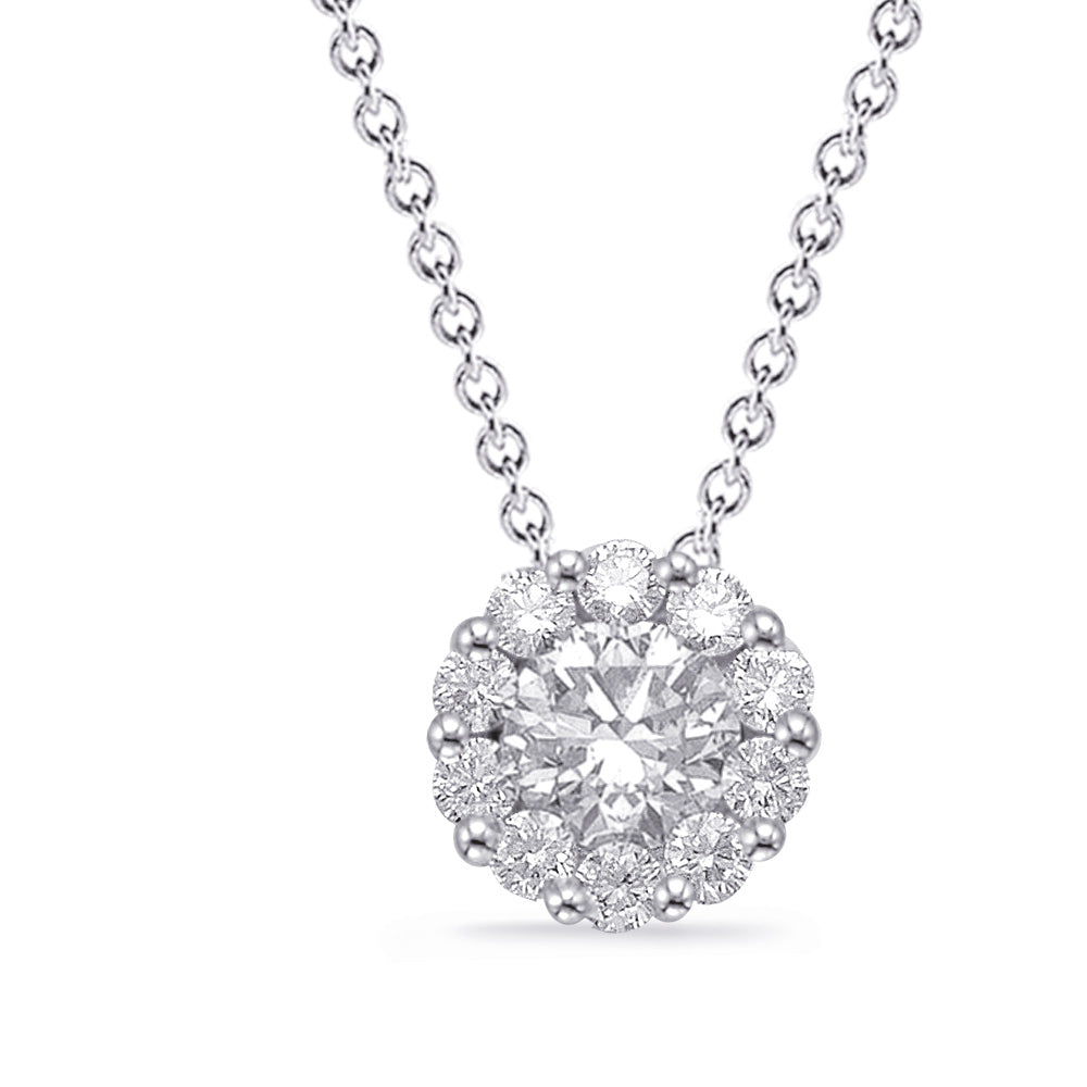 14K White Gold Diamond Necklace. #1090-N1216WG