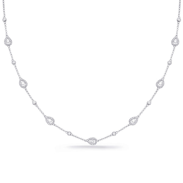 14K White Gold Diamond Necklace. #1090-N1225WG