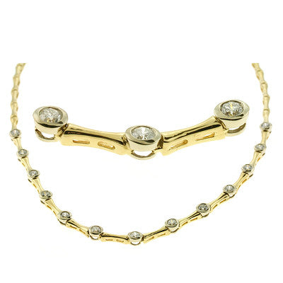 Yellow & White Gold Diamond Necklace