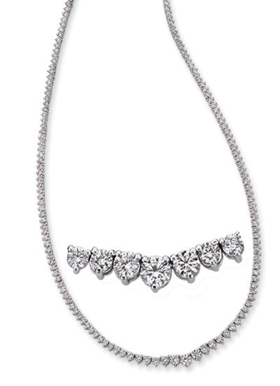Diamond Necklace Three Prong
