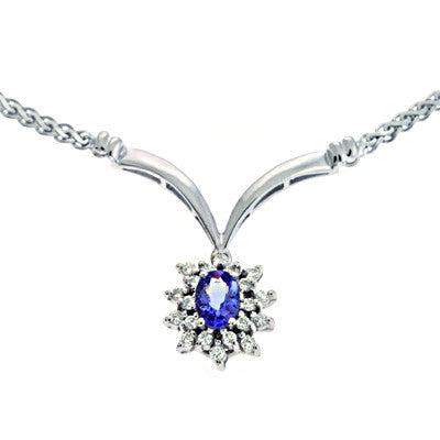 Tanzanite./diamond Necklace