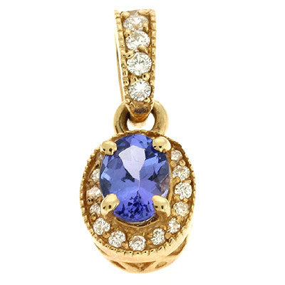 Tanzanite./ Diamond Pendant