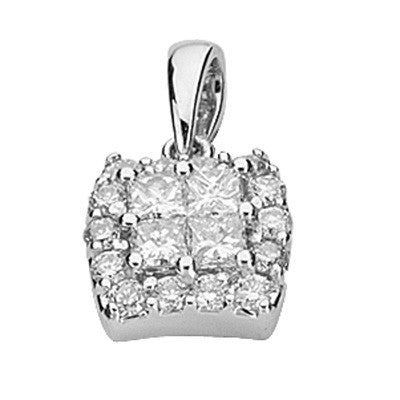 White Gold Diamond Penadnt