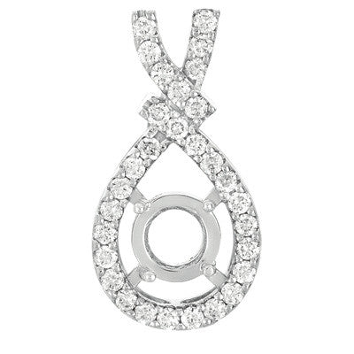 Diamond Pendant For 1.5ct Round Stone