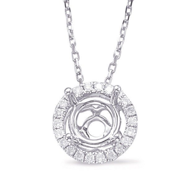 Diamond Pendant halo for 1.33ct center