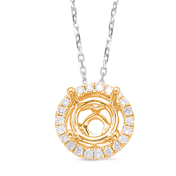 14K Yellow Gold Diamond Pendant. #1090-P3192-133YG