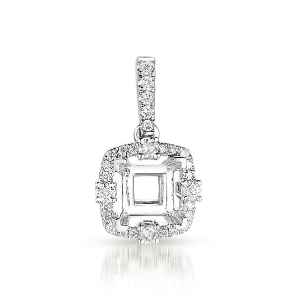 Diamond Pendant For 1ct princess center