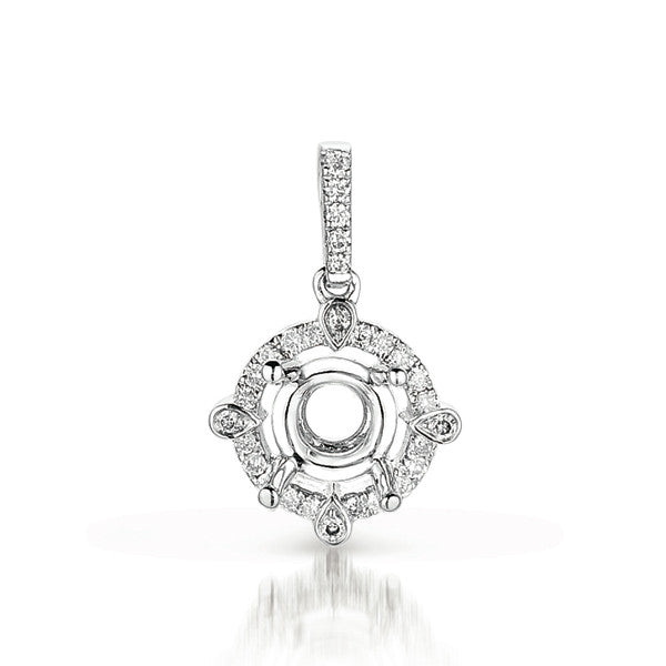 Diamond Pendant For .25ct  Round Stone
