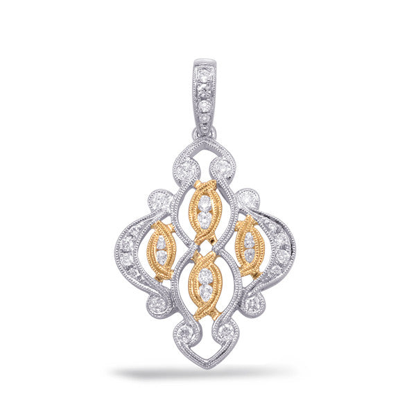 White & Yellow Gold  Pendant
