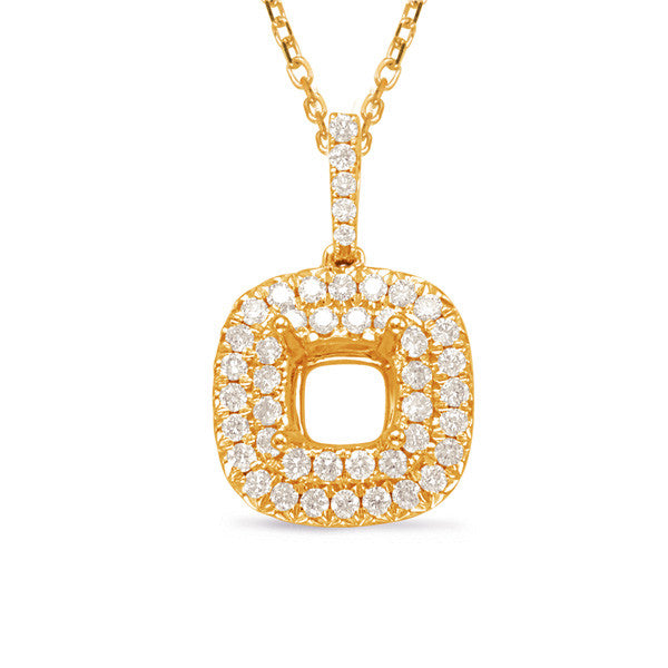 Diamond Pendant For 1ct Cushion Center