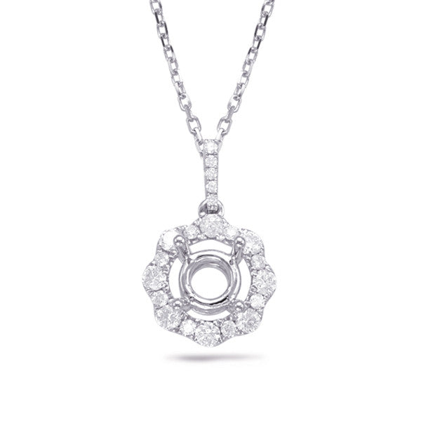 Diamond Pendant For 0.50ct Round Cente