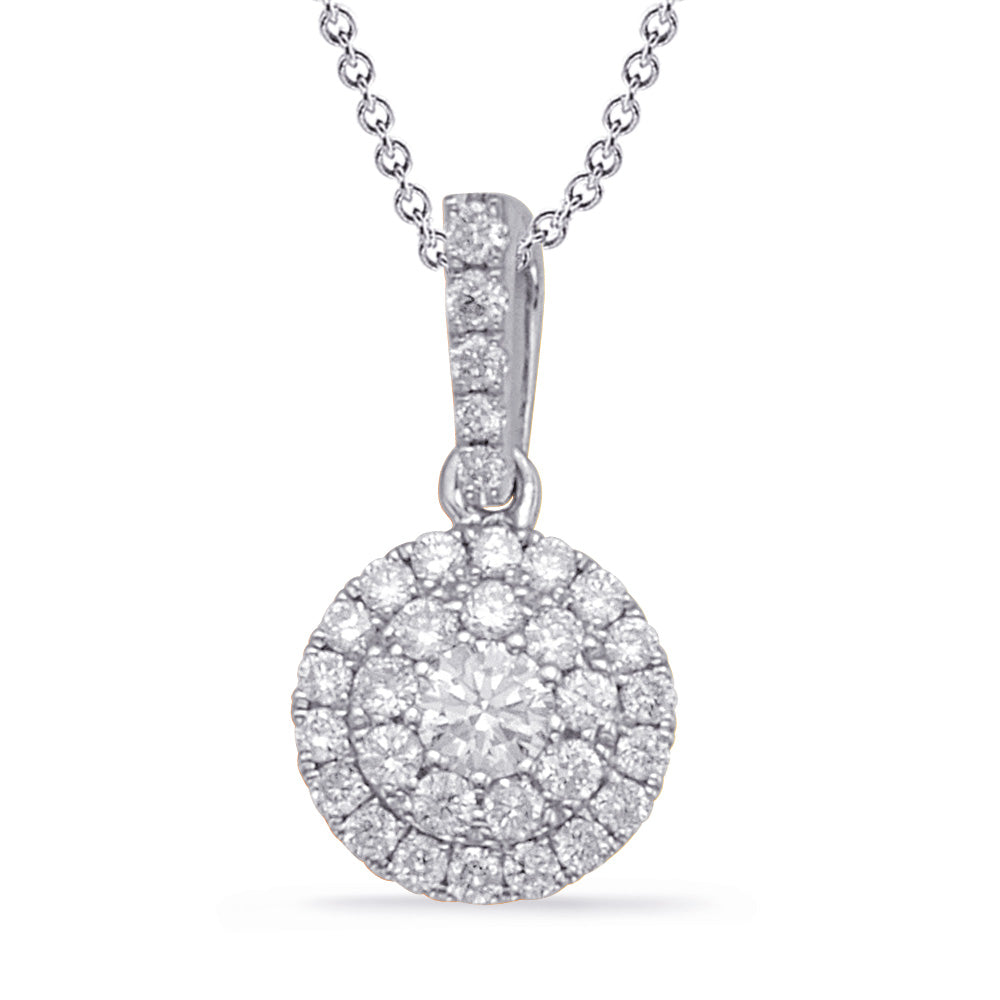 14K White Gold Diamond Pendant. #1090-P3311WG