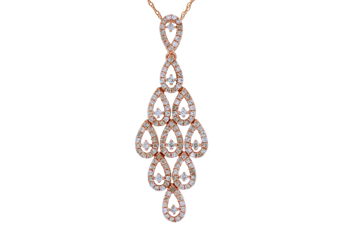 14K Rose Gold & Diamond Pendant. #1167-PC5215D