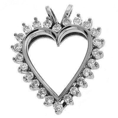 Diamond Heart White Gold