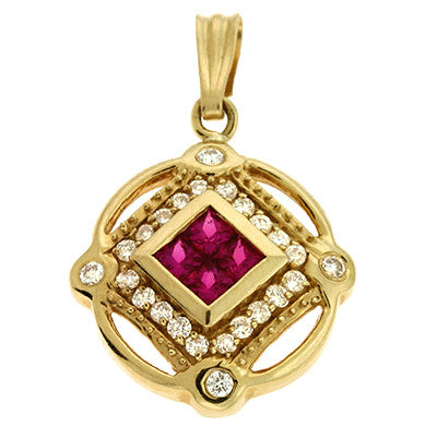 Ruby./diamond Pendant