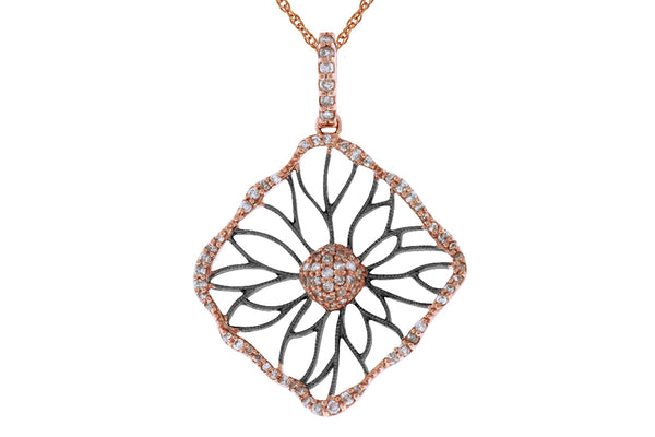 14K Rose Gold & Diamond Pendant. #1167-PC5116D