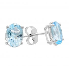 14K Aquamarine Earrings. #1163-SD86W-AQ