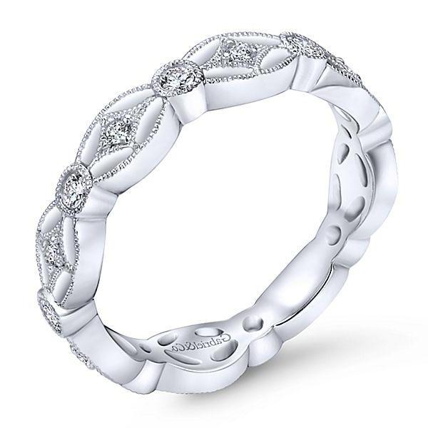 White Gold Diamond Stackable Ring  # 10080168
