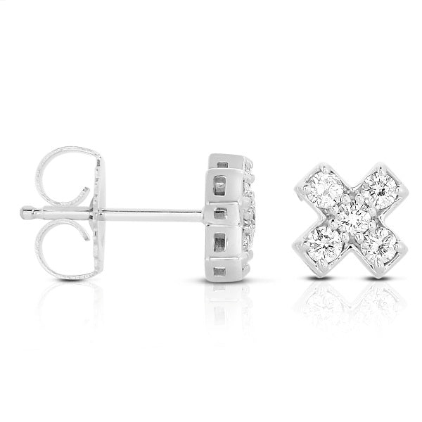 14K Diamond Earrings. 1111-Z1102014