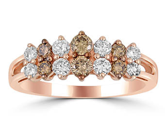 Rose Gold Chocolate Diamond Ring # 10130904