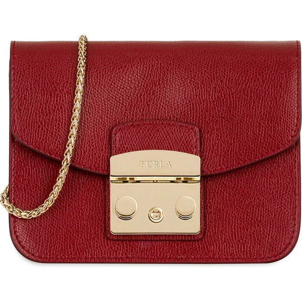 FURLA Metropolis Mini Crossbody Bag Cherry. #BGZ7AREOOZ