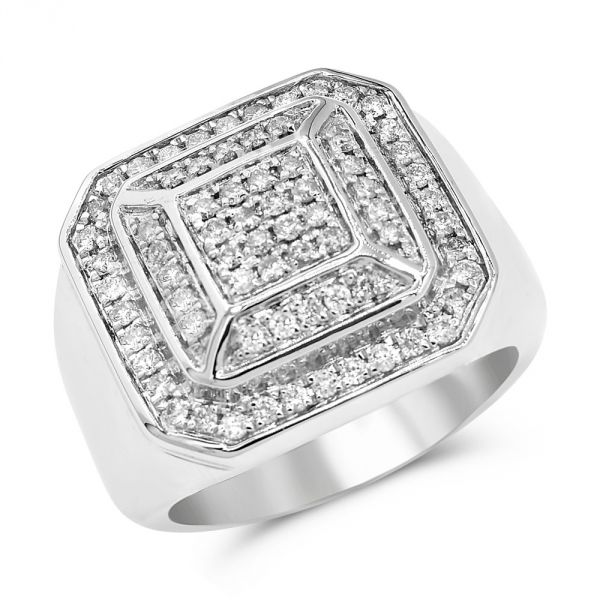 White Gold Men's Diamond Ring #1099-FRR5404