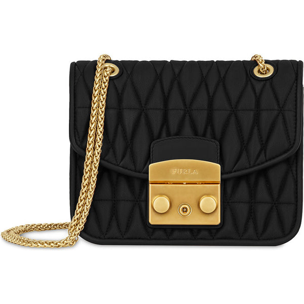 FURLA Metro-Cometa Mini Leather Black. #BUH42Q000Z