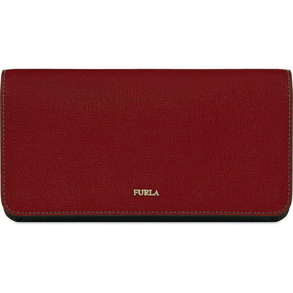 FURLA Babylon Bi-Fold Wallet Red & Grey.#PAP3B3000Z