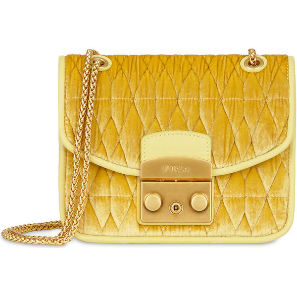 FURLA Metro-Cometa Mini Yellow.# BU09N1700Z