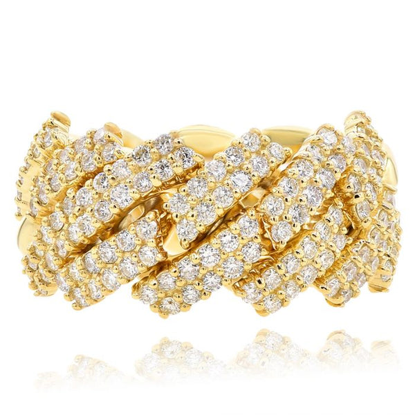 Yellow Gold Men's Diamond Ring #1099-K0356R1