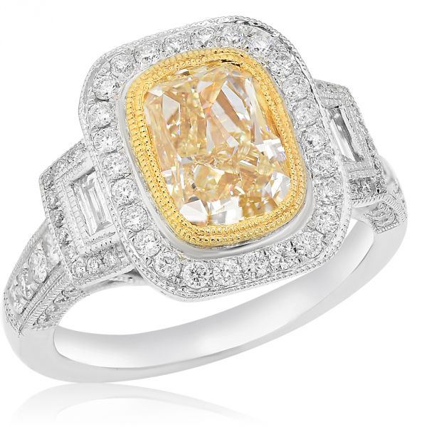White & Yellow Gold Diamond Ring #1099-RH212