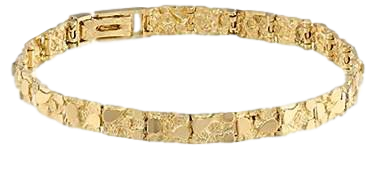 14K Yellow Gold Nugget Bracelet # 10135882