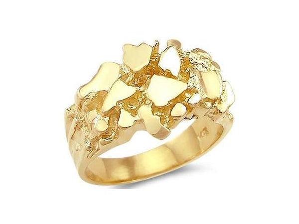 14K Yellow Gold Men's Nugget Ring # 10135445
