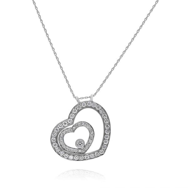 18K White Gold Diamond Pendant. #1099-P5484A