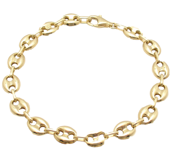14K Yellow Gold Puff Gucci Bracelet # 10135718