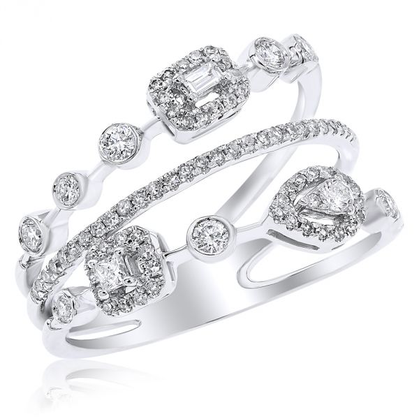 White gold and Diamond Ring.#1099-R22302A