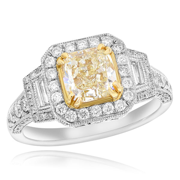 White & Yellow Gold Diamond Ring #1099-R9147M