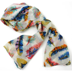 Colorful handmade silky polyester scarf