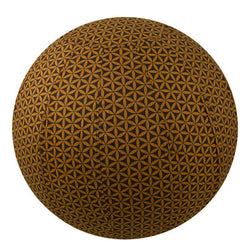 Yoga Ball Cover Size 65cm Design Chocolate Flower of Life - Global Groove (Y)