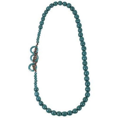 Circle Chain Necklace in Teal Handmade and Fair Trade
