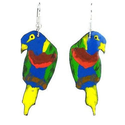 Painted Parrot Earrings Handmade and Fair Trade