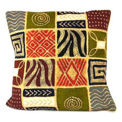 Handmade Colorful Patches Batik Cushion Cover Handmade and Fair Trade