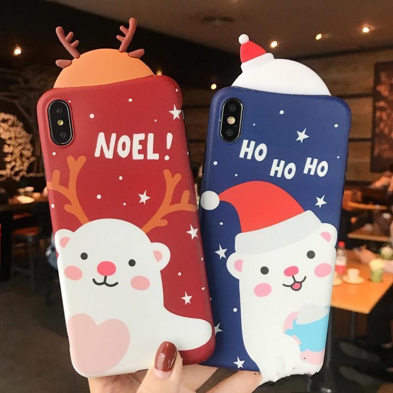 3D Charming Christmas Cases - Jelly Cases