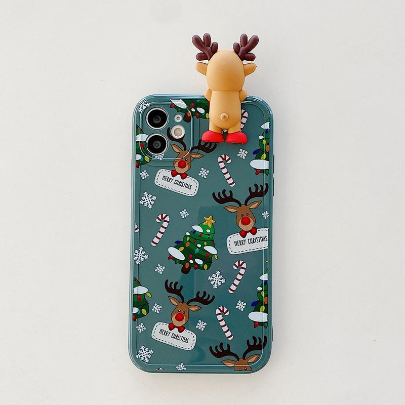 3D Christmas Deer Case - Jelly Cases