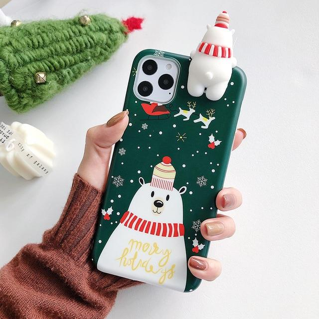 3D Christmas Reindeer & Snowman Case - Jelly Cases