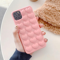 3D Love Heart Case - Jelly Cases