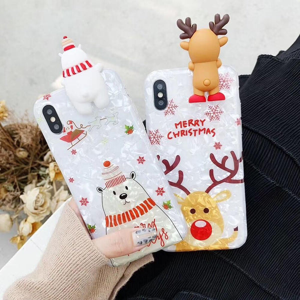 3D Merry Christmas Case - Jelly Cases